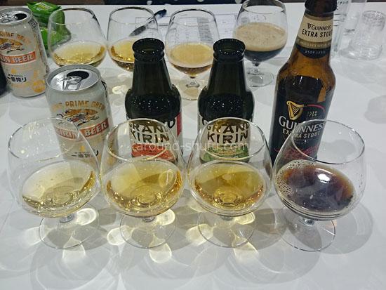 試飲したビール4種