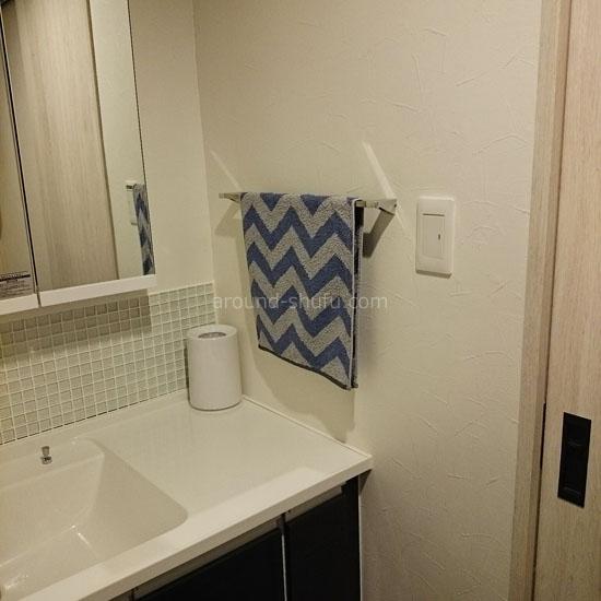 カラフルまいにちタオル 洗面所