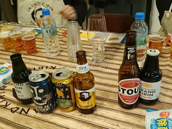 クラフトビール6種類を飲みくらべ