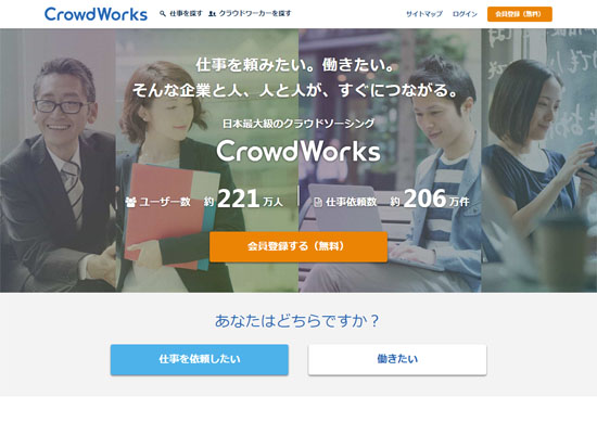 クラウドワークス CrowdWorks