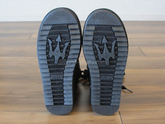 ニットムートンブーツ 靴底