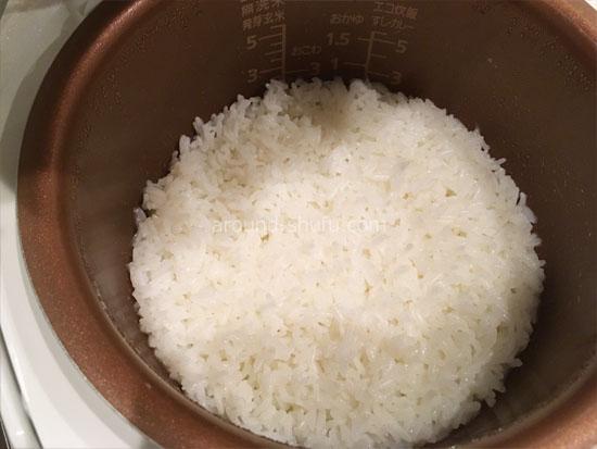 無洗米 まばゆきひめ 炊き上がり