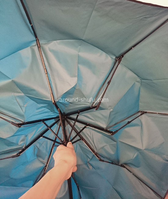 元に戻る折りたたみ傘