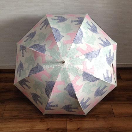 傘 北欧バード柄