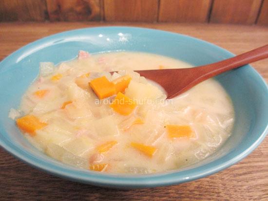 豆乳野菜スープ