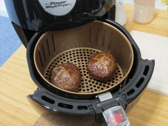 パワーマジックフライヤーXL 使い方 ハンバーグ レシピ