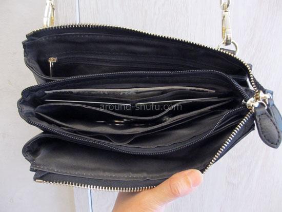 レザーお財布ポシェット  お財布スペース